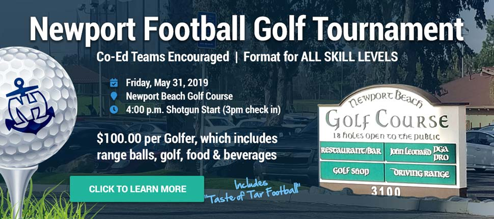 NEWPORT FOOTBALL GOLF TOURNAMENT set for May 31, 2019